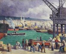 Порт в Руане, 1913 - Люс, Максимильен