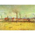 Фабрики в Аснерис, вид с Квай де Клиши - Гог, Винсент ван