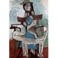Жаклин и афганская борзая, 1960 - Пикассо, Пабло