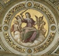 Станца делла Сеньятура: Роспись потолка (фрагмент) - Правосудие - Рафаэль, Санти