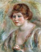 Девушка с розой - Ренуар, Пьер Огюст
