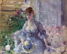 Женщина на софе - Моризо, Берта