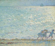 Дети на пляже (Children on the Beach with Breakers), 1912 - Лич, Уильям