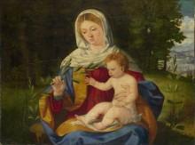 Мадонна с младенцем и оливковой веточкой - Превитали, Андреа