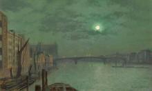 Мост Блэкфрайерс в лунную ночь - Гримшоу, Джон Аткинсон