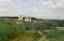 Пейзаж с видом на замок Пьерфон - Коро, Жан-Батист Камиль