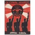 Плакат фалангистов времен гражданской войны в Испании 1936-39 годах