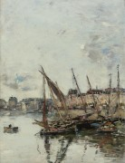 Порт Tрувильl, морской бассейн, 1894 - Буден, Эжен