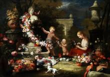 Подношение цветов богине Венере - Брейгель, Абрахам