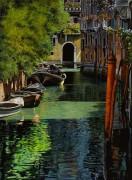 Красный столб для гондол в Венеции - Борелли, Гвидо (20 век)