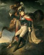 Раненый офицер имперской гвардии, покидающий поле боя - Жерико, Теодор Жан Луи Андре