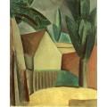 Сад и домик - Пикассо, Пабло