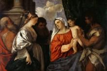 Мадонна с Младенцем и святыми - Тициан Вечеллио