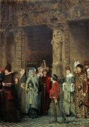 Выход из церкви в пятнадцатом веке - Альма-Тадема, Лоуренс