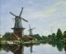 Ветряные мельницы в Голландии - Буден, Эжен