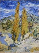 Два тополя на дороге через холмы (Two Poplars on a Hill), 1889 - Гог, Винсент ван