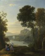 Пейзаж с Агарь и Ангелом - Лоррен, Клод (Желле)