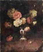Натюрморт с розами в вазе - Врабец, Антон