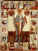 Николай Чудотворец с житием, 16 век, 128 х 97cм