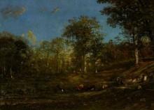 Пейзаж с пастухами и коровами в Лимузене - Дюпре, Жюль