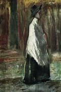 Женщина с белой шалью в лесу (Woman with White Shawl in a Wood), 1882 - Гог, Винсент ван