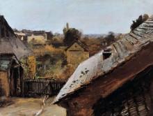 Вид на крыши и сады - Блехен, Карл