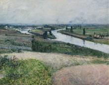 Сена на  Эпине, 1888 - Кайботт, Густав