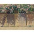 Пара ворот под шиповником в цвету - Мартен, Анри Жан Гийом