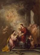 Мистическое бракосочетание святой Екатерины Александрийской - Мурильо, Бартоломе Эстебан