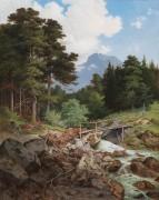 Пейзаж в Каринтии, лесной ручей - Гайст, Карл Фридрих Вильгельм