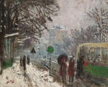 Бульвар Бино в снегу - Монтезен, Пьер-Эжен