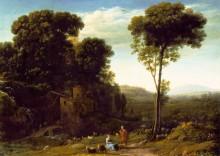 Пасторальный пейзаж с мельницей - Лоррен, Клод (Желле)