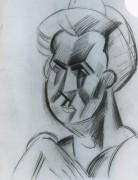 Голова женщины, 1909 - Пикассо, Пабло
