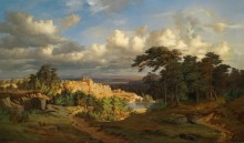 Панорамный пейзаж - Косарек, Адольф