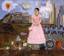 Автопортрет на границе Мексики и США - Кало, Фрида