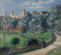 Пейзаж, церковь в Канне, 1902 - Андре, Альберт