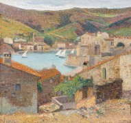 Пейзаж с видом на Коллиур - Мартен, Анри Жан Гийом
