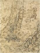 Деревья, обвитые плющом в больничном саду (Trees with Ivy in the Garden of the Asylum), 1889 - Гог, Винсент ван