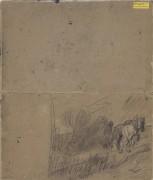 Пейзаж с крестьянином и двумя лошадьми (Landscape with Peasant and Two Horses), 1890 - Гог, Винсент ван