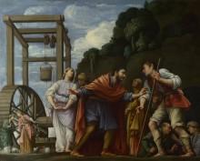 Моисей защищает дочь Джетро - Сарачени, Карло