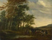 Пейзаж со всадниками - Рейсдал, Саломон ван