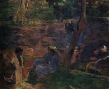 На берегу пруда, 1887 - Гоген, Поль