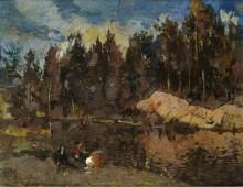 На озере - Коровин, Константин Алексеевич