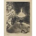 Чтение под лампой, 1880-83 - Дега, Эдгар