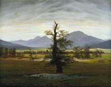 Одинокое дерево - Фридрих, Каспар Давид
