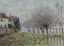 После наводнения, Эндр, Атлантическая Луара, 1904 - Мофра, Максим