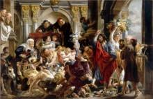 Изгнание торговцев из Храма - Йорданс, Якоб