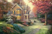 Дом в викторианском стиле, осень - Кинкейд, Томас