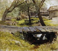 Мостик. Саввинская слобода. 1884 - Левитан, Исаак Ильич