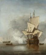Пушечный залп - Велде, Виллем ван де (Младший)